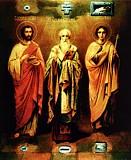 Бессребреник Косма,  священномученик Харалампий и мученик Трифон